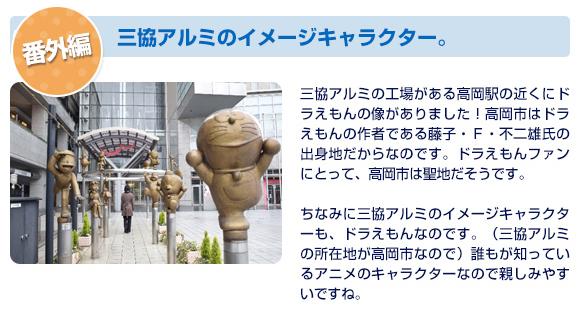 三協アルミ イメージキャラクター