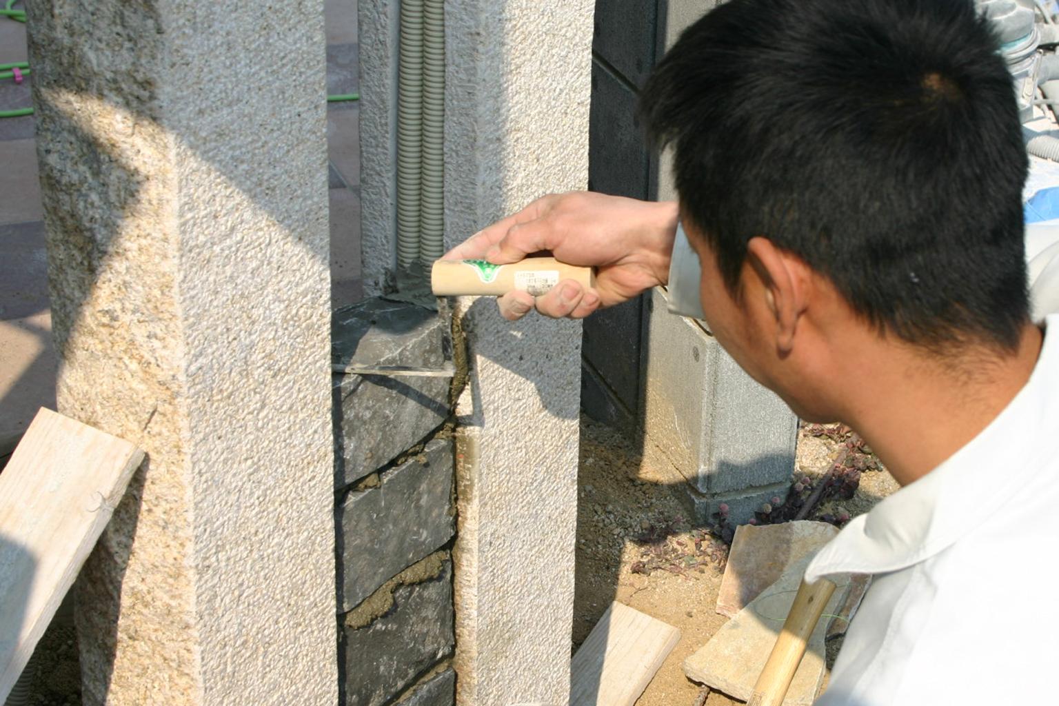ピンコロ石積み