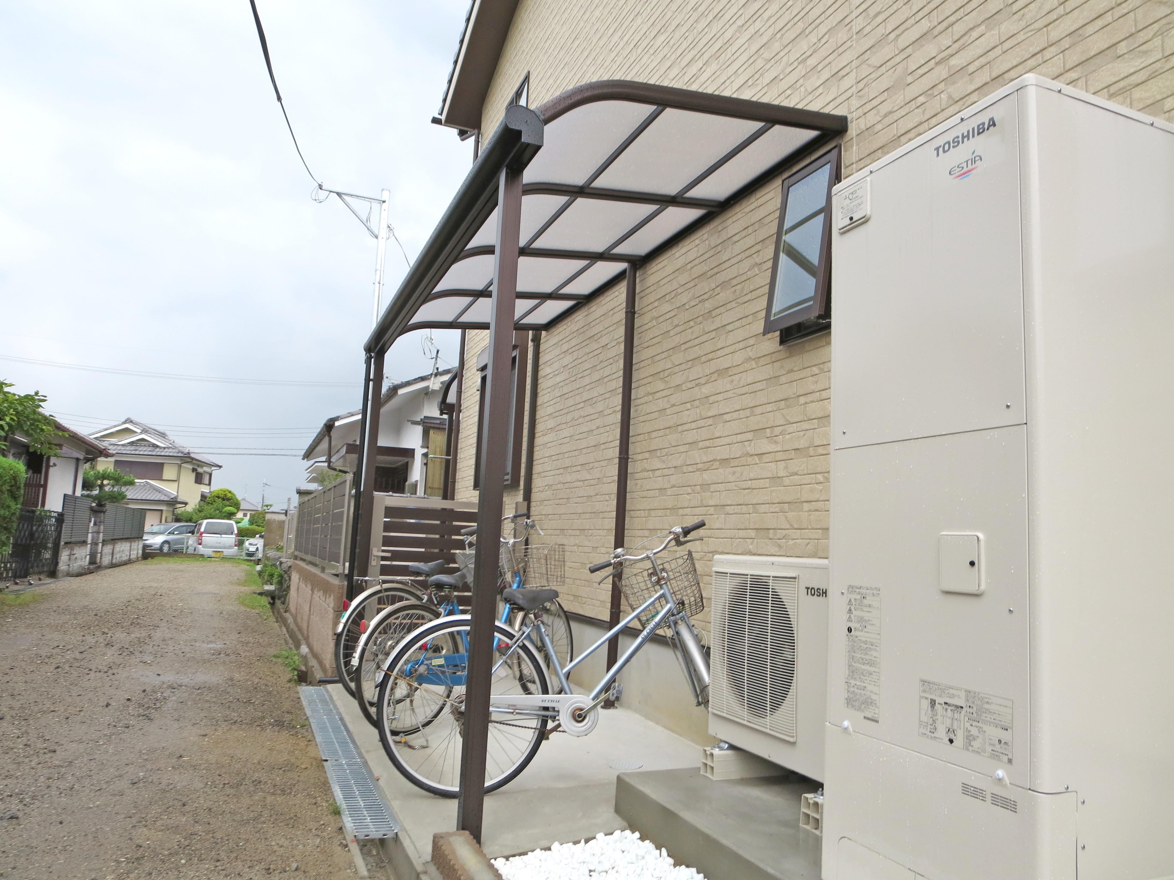 自転車置場の屋根として