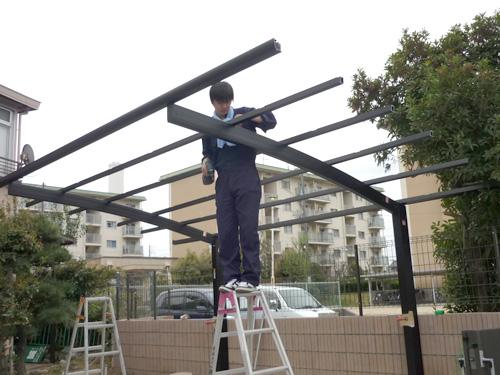 4.屋根枠の取付